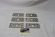 Titanium Sail Boat Plate Pieces BEFORE Chrome-Like Metal Polishing and Buffing Services / Restoration Services