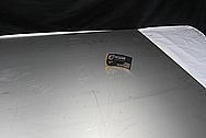 Titanium Boat Sheet Metal BEFORE Chrome-Like Metal Polishing and Buffing Services / Restoration Services