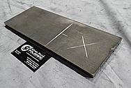 Titanium Block BEFORE Custom Metal Satin Finish Services Plus Custom Cutting Services