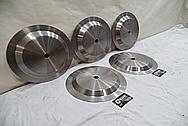 Titanium Electrodes BEFORE Chrome-Like Metal Polishing - Titanium Polishing Services - Manufacturer Polishing Services