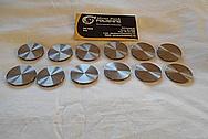 Titanium Discs / Coupons BEFORE Chrome-Like Metal Polishing - Titanium Polishing Services - Manufacturer Polishing Services