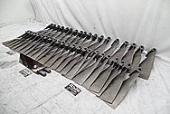 Titanium Aircraft Blades and Hub BEFORE Chrome-Like Metal Polishing - Titanium Polishing Services - Aircraft Polishing Services