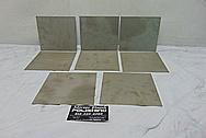 "Grade 5 Titanium .03"" and .016"" Thick BEFORE Chrome-Like Metal Polishing - Titanium Polishing Services - Manufacturer Polishing"