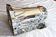 Chevy LS1 Style Aluminum Transmission Case AFTER Chrome-Like Metal Polishing and Buffing Services