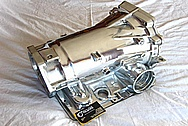 4L60E Chevy GM LS1 Style Aluminum Transmission Case AFTER Chrome-Like Metal Polishing and Buffing Services