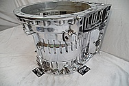 Volvo A40D Heavy Duty Articulated Truck Aluminum Transmission Housing AFTER Chrome-Like Metal Polishing and Buffing Services / Restoration Services