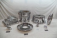 Volvo A40D Heavy Duty Articulated Truck Aluminum Transmission Parts AFTER Chrome-Like Metal Polishing and Buffing Services / Restoration Services
