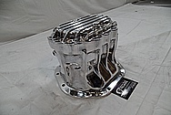 Aluminum Transmission Case AFTER Chrome-Like Metal Polishing and Buffing Services / Restoration Services