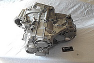 4 Cylinder Car Engine Aluminum Transmission BEFORE Chrome-Like Metal Polishing and Buffing Services / Restoration Services