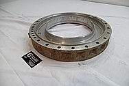 Volvo A40D Heavy Duty Articulated Truck Aluminum Transmission Part BEFORE Chrome-Like Metal Polishing and Buffing Services / Restoration Services