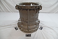 Volvo A40D Heavy Duty Articulated Truck Aluminum Transmission Housing BEFORE Chrome-Like Metal Polishing and Buffing Services / Restoration Services