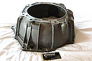 4L60E Chevy GM LS1 Style Aluminum Transmission Bell Housing Case BEFORE Chrome-Like Metal Polishing and Buffing Services