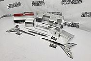 Vintage Chevy Stainless Steel Trim Pieces AFTER Chrome-Like Metal Polishing and Buffing Services / Restoration Services - Stainless Steel Polishing - Trim Polishing
