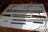 Steel Car Trim Pieces / Moulding AFTER Chrome-Like Metal Polishing and Buffing Services / Restoration Services