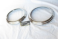 1961 Plymouth Fury Steel Headlight Bezel Pieces AFTER Custom Metal Polishing and Buffing Services