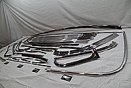 1956 Chevy Bel Air Stainless Steel Trim Pieces AFTER Chrome-Like Metal Polishing and Buffing Services / Restoration Service