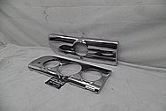 1940's Buick Stainless Steel Dash Pieces AFTER Chrome-Like Metal Polishing - Stainless Steel Polishing