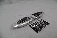 1941 Willys Coupe Aluminum Interior Trim Pieces AFTER Chrome-Like Metal Polishing - Aluminum Polishing Services