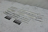 Vintage Aluminum Trim Pieces AFTER Chrome-Like Metal Polishing and Buffing Services - Aluminum Polishing