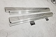 1987 Jaguar XJS V12 Stainless Steel Door Trim Pieces AFTER Chrome-Like Metal Polishing - Stainless Steel Polishing - Trim Polishing