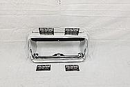 Vintage Chrome Steel License Plate Frame AFTER Chrome-Like Metal Polishing and Buffing Services - Steel Polishing Services