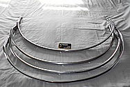 Steel Car Trim Pieces / Moulding BEFORE Chrome-Like Metal Polishing and Buffing Services / Restoration Services