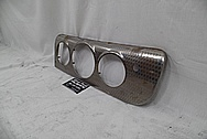 1940's Buick Stainless Steel Dash Pieces BEFORE Chrome-Like Metal Polishing - Stainless Steel Polishing