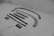 1958 Chevrolet Corvette Stainless Steel Trim Pieces BEFORE Chrome-Like Metal Polishing and Buffing Services - Stainless Steel Polishing