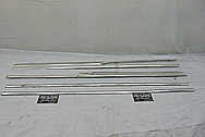 Vintage Aluminum Trim Pieces BEFORE Chrome-Like Metal Polishing and Buffing Services - Aluminum Polishing
