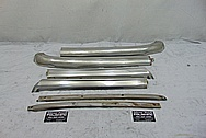 1965 Ford Mustang Convertible Stainless Steel Windshield Trim BEFORE Chrome-Like Metal Polishing and Buffing Services / Restoration Services - Trim Polishing - Stainless Steel Polishing
