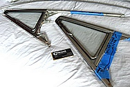 1969 Alpha Romeo Spider Trim Pieces BEFORE Chrome-Like Metal Polishing and Buffing Services / Restoration Services
