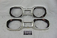 Oldsmobile 442 Aluminum Headlight Bezels BEFORE Chrome-Like Metal Polishing - Stainless Steel Polishing - Trim Polishing Plus Custom Painting Services