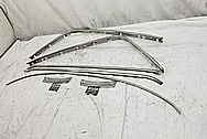 Vintage Automotive Trim Pieces BEFORE Chrome-Like Metal Polishing and Buffing Services - Steel Polishing Services