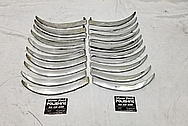 Vintage Stainless Steel Automotive Trim Pieces BEFORE Chrome-Like Metal Polishing and Buffing Services - Steel Polishing Services