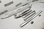 1966 Ford Mustang Stainless Steel Trim Pieces BEFORE Chrome-Like Metal Polishing and Buffing Services - Stainless Steel Polishing