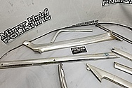 Stainless Steel Trim Pieces BEFORE Chrome-Like Metal Polishing - Stainless Steel Polishing Services