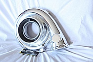 Precision Turbo Aluminum Turbo Housing AFTER Chrome-Like Metal Polishing and Buffing Services / Restoration Services