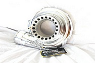 Precision Turbo Aluminum Turbocharger Housing AFTER Chrome-Like Metal Polishing and Buffing Services / Restoration Services
