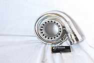 Precision Turbo Aluminum Turbocharger AFTER Chrome-Like Metal Polishing and Buffing Services / Restoration Services