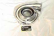 Garrett M24 Aluminum Turbocharger Compressor Housing AFTER Chrome-Like Metal Polishing and Buffing Services / Restoration Services