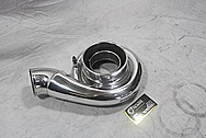 Precision Turbo & Engines 8280 Dual Ball Bearing Aluminum Turbocharger Compressor Housing AFTER Chrome-Like Metal Polishing and Buffing Services / Restoration Services