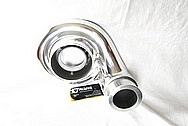 Garrett Aluminum Turbocharger Compressor Housing AFTER Chrome-Like Metal Polishing and Buffing Services / Restoration Services