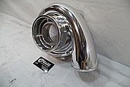 Garrett Aluminum Turbo Housing AFTER Chrome-Like Metal Polishing and Buffing Services