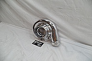 Toyota Supra 2JZ-GTE Borg Warner Aluminum Turbo Housing AFTER Chrome-Like Metal Polishing and Buffing Services