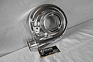 Borg Warner Aluminum Turbocharger Compressor Housing AFTER Chrome-Like Metal Polishing and Buffing Services / Restoration Services