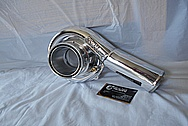 Toyota Supra 2JZ-GTE Precision Turbo Aluminum Turbocharger Compressor Housing AFTER Chrome-Like Metal Polishing and Buffing Services / Restoration Services