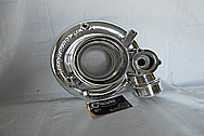 Mazda RX-7 Borg Warner Aluminum Turbocharger Compressor Housing AFTER Chrome-Like Metal Polishing and Buffing Services - Aluminum Polishing