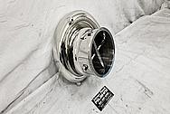 On 3 Performance Aluminum Turbo Housing AFTER Chrome-Like Metal Polishing and Buffing Services - Aluminum Polishing