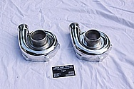 HKS Twin Turbo Housings AFTER Chrome-Like Metal Polishing and Buffing Services
