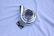 Medium Sized Aluminum Turbo Housing AFTER Chrome-Like Metal Polishing and Buffing Services